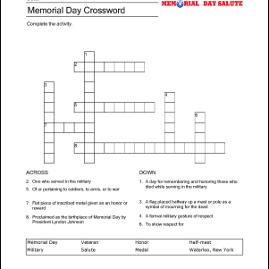 Miraculous Memorial Day Wordsearch Crossword Puzzle And More Download Free Architecture Designs Jebrpmadebymaigaardcom