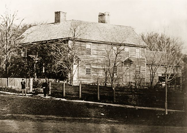 Exterior view of the Catamount Tavern.