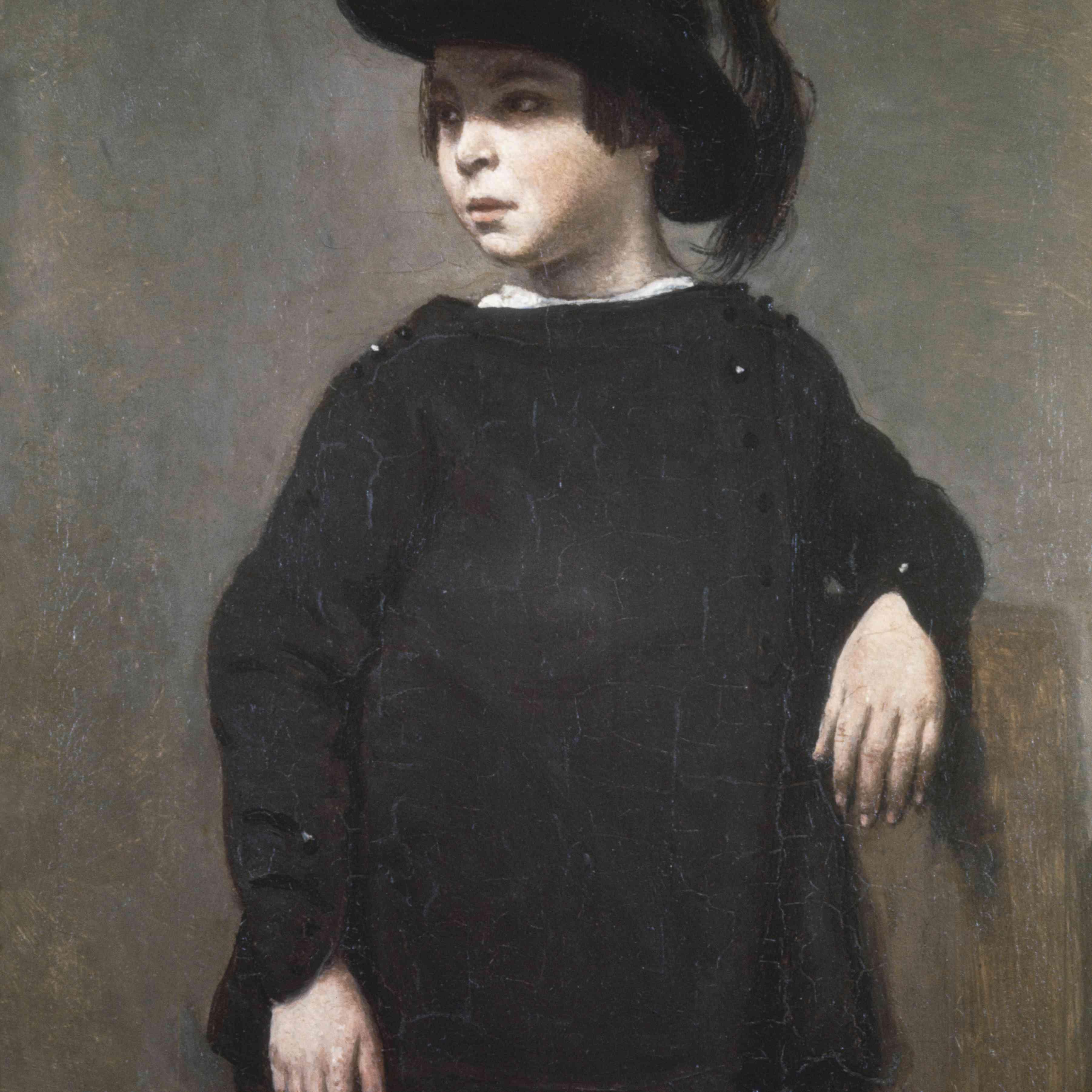 Portrait of Rosa Bonheur by Jean-Baptiste-Camille Corot