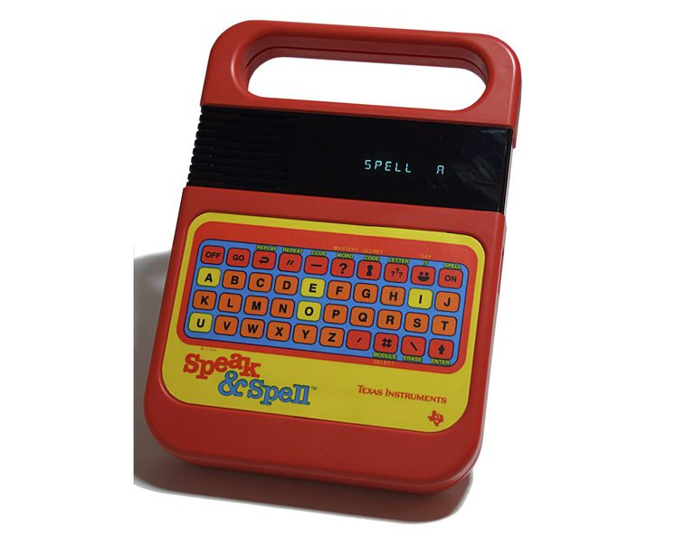 Speak & Spell toy by Texas Instruments