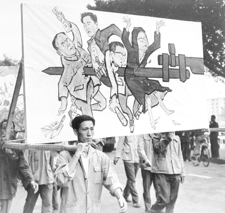 Canton Residents Protesting Against Mao