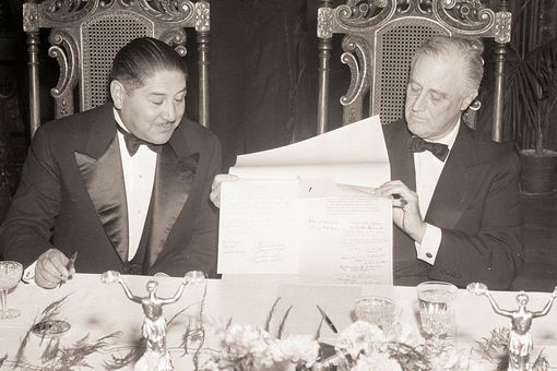President Enrique Penaranda of Bolivia, and President Roosevelt of the United States
