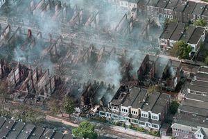 Smoke Rising from Destroyed Homes in Philadelphia