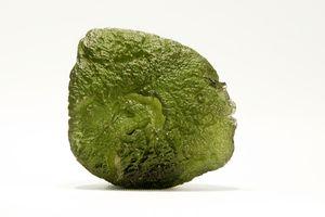 Close-up of Moldavite Precious Gemstone