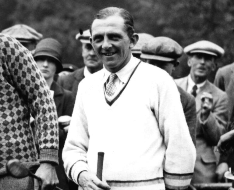 Golfer Cyril Walker pictured in 1926