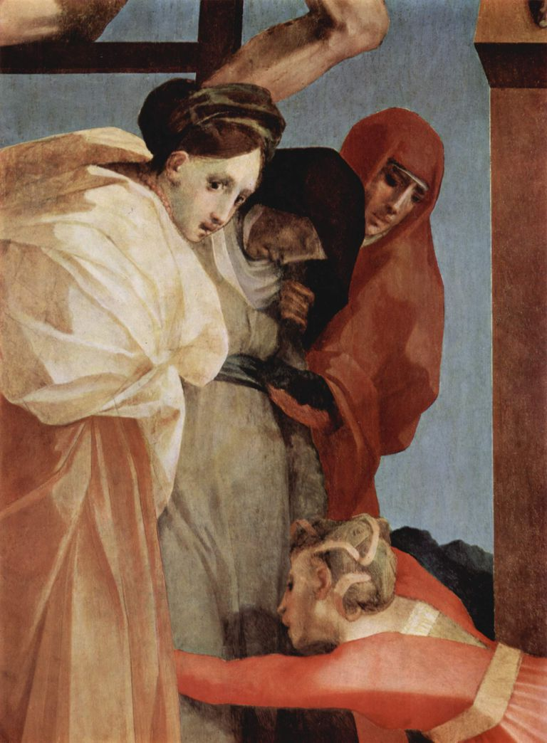 """Kreuzabnahme"" (Descent From the Cross) by Rosso Fiorentino (1494-1540)"