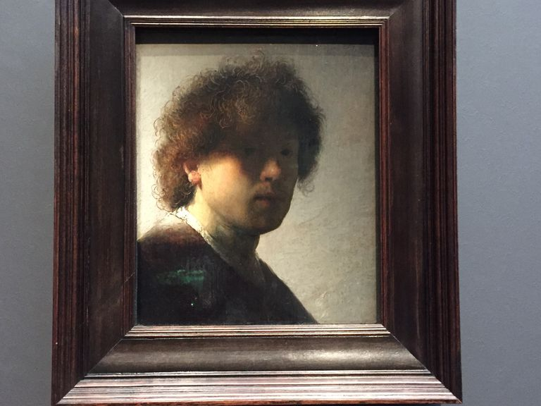 Self-portrait oil painting by Rembrandt, 1628