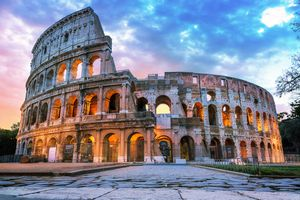 The Roman Coliseum in the early morning