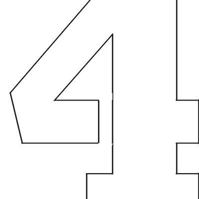 Rare image regarding free printable 4 inch number stencils