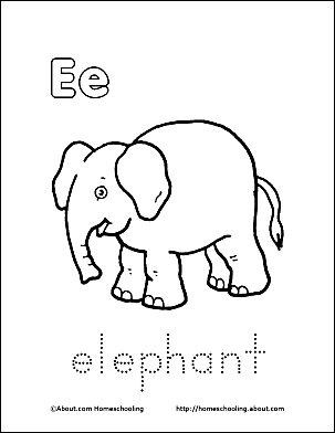 Print The Pdf Elephant Coloring Page And Color Picture Use Your Back Button To Return This Choose Next Printable Sheet
