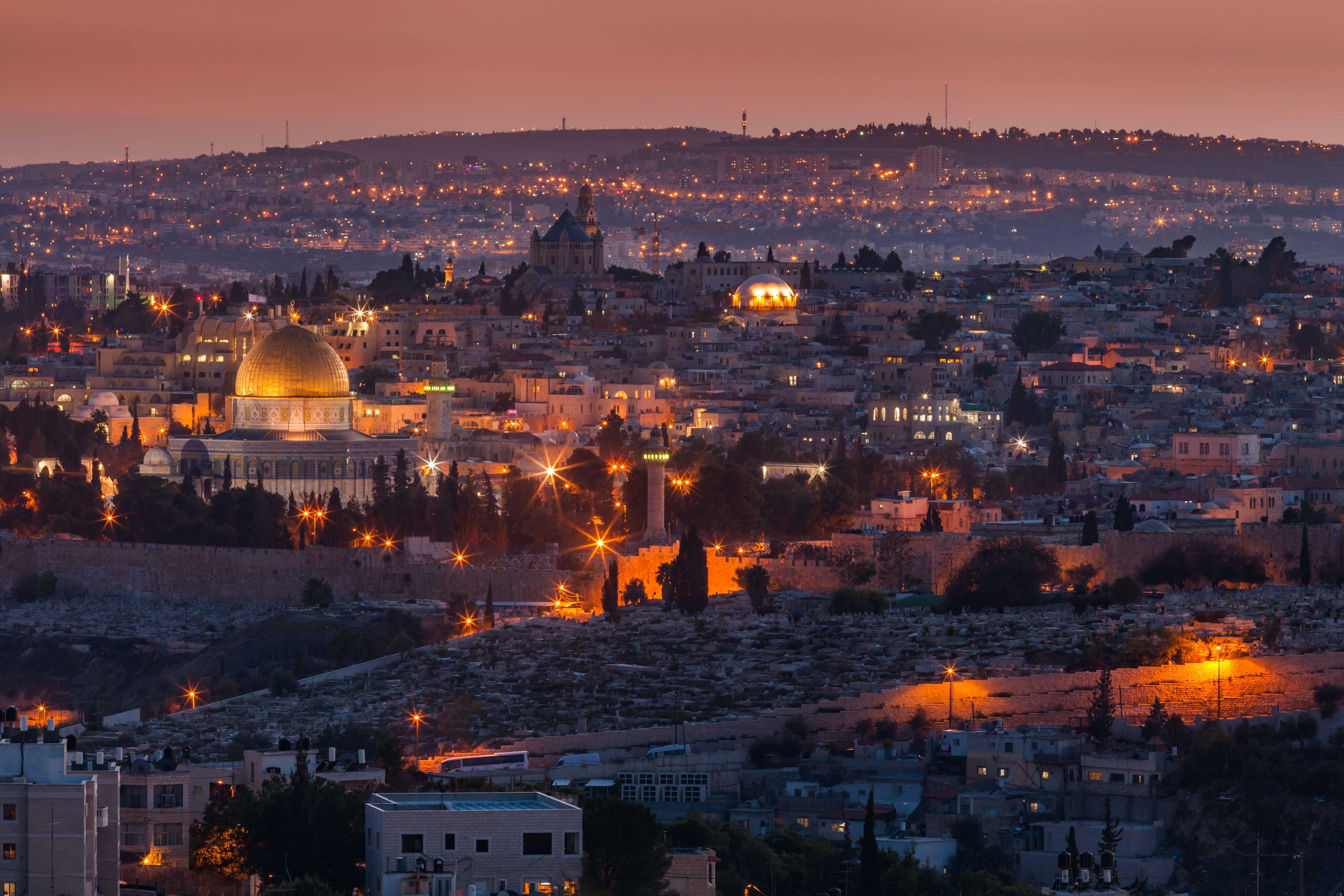 evening view to jerusalem old city israel 5b089e8e0e23d b4a