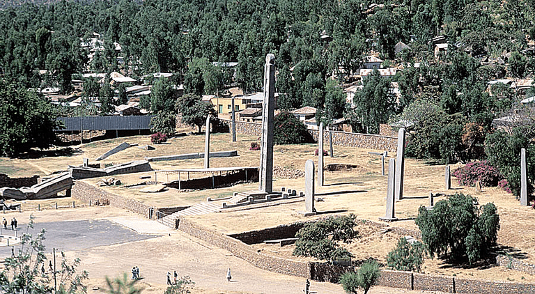 The Northern Stele Park at the town of Axum, Ethiopia