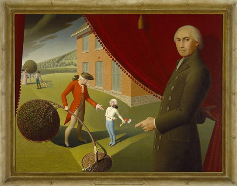 grant wood parson weem's fable