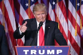 President Donald Trump delivering his acceptance speech