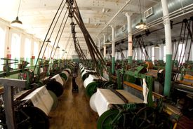 Photograph of a restored textile mill in Lowell, Massachusetts