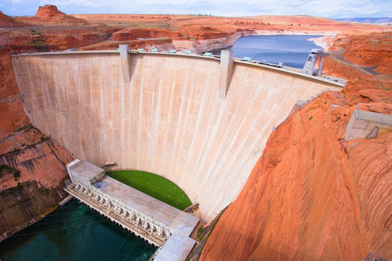 The Glen Canyon Dam on the Colorado River.