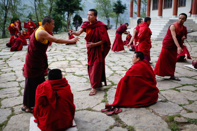 monks debating - premises of arguments