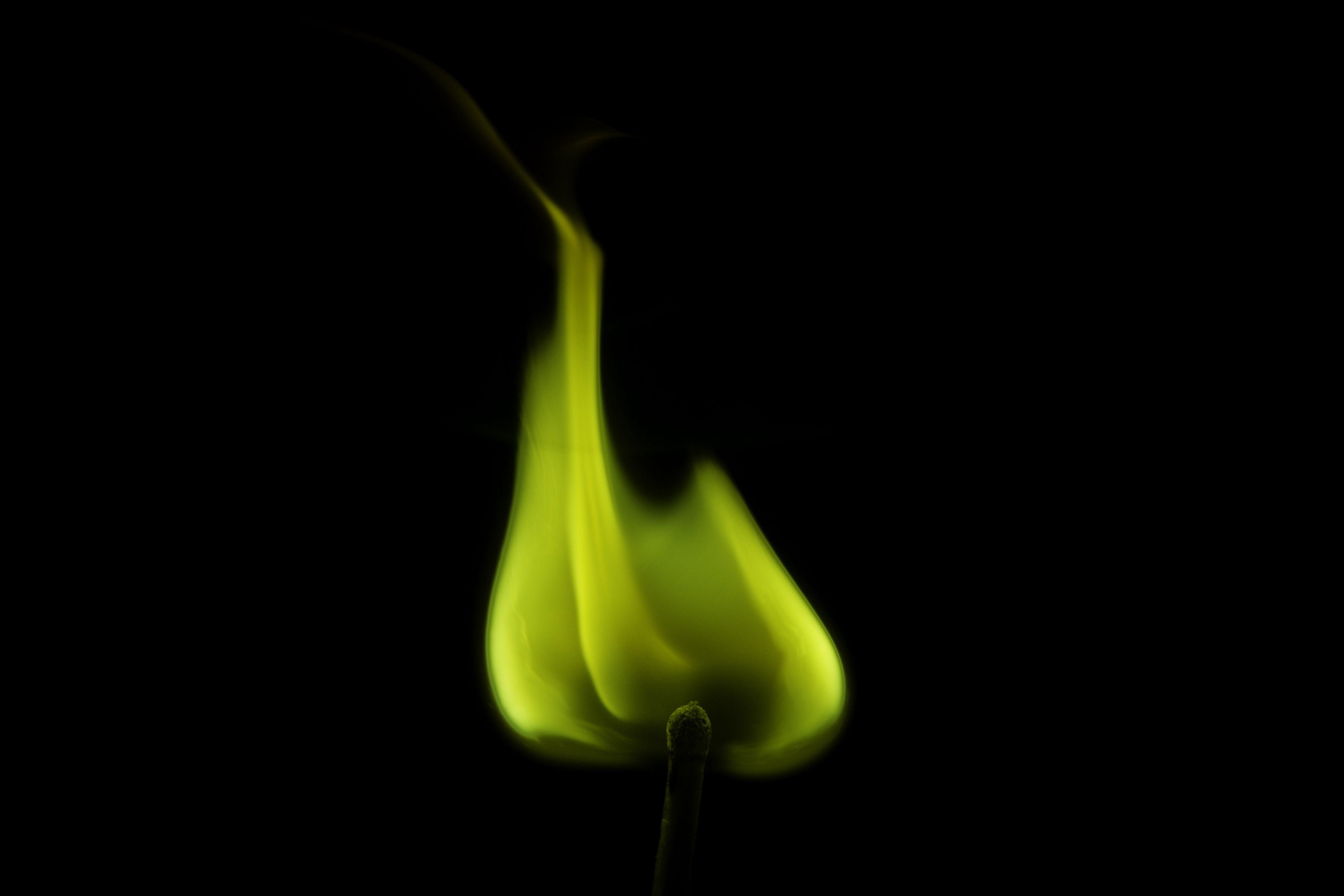 Barium salts produce a yellow-green flame