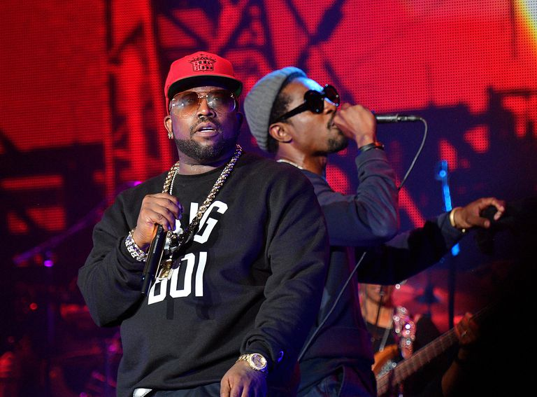 Big Boi and André 3000, of Outkast, performing live
