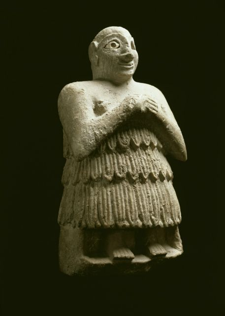 Figure of a Sumerian, Mesopotamian art