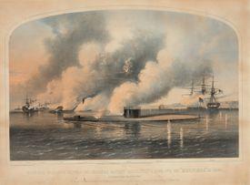 Encounter between warships during the Civil War