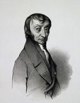Portrait of Amedeo Carlo Avogadro (Turin, 1776-1856), Count of Quaregna and Cerreto, Italian chemist and physicist, Engraving