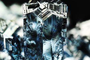 A close-up photo of Osmium Crystals