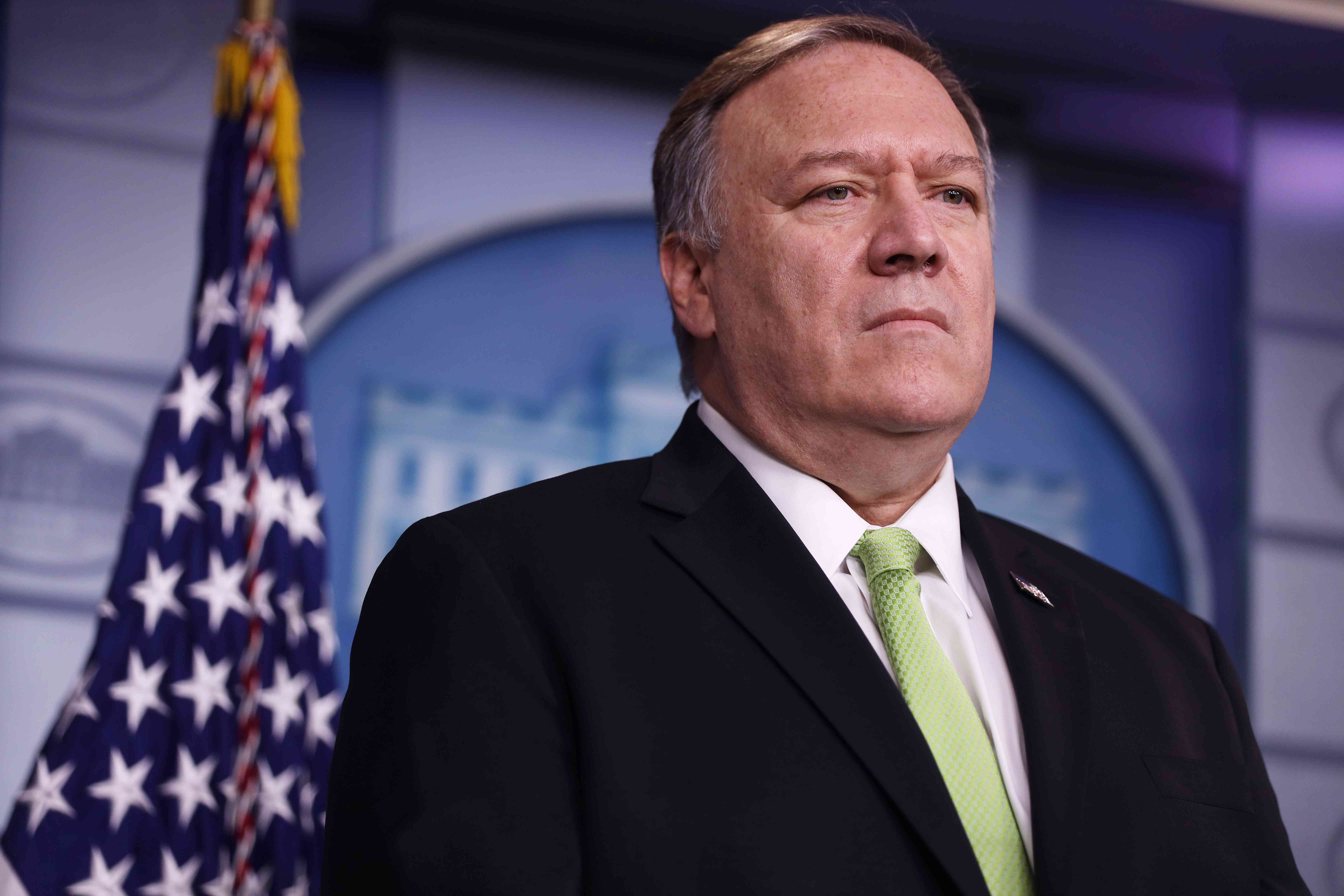 U.S. Secretary of State Mike Pompeo in the White House on January 10, 2020.