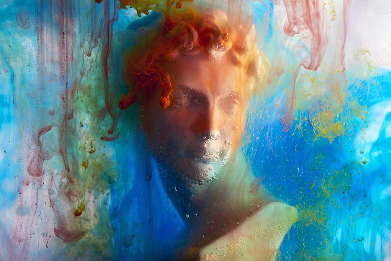 colourful image of greek god