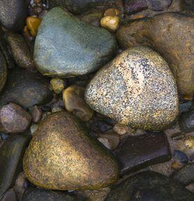 Close of of several rocks.