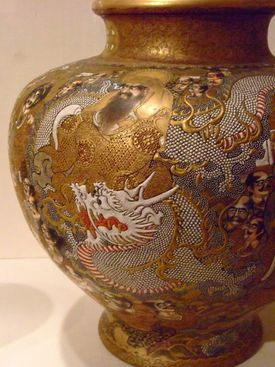 This Satsuma ware vase in now on display in the Santa Barbara Museum in California.