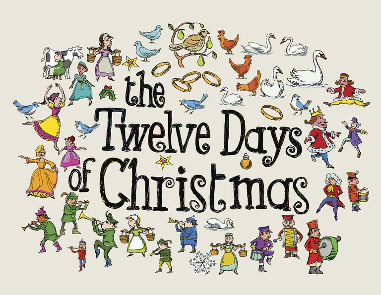 make your own 12 days of christmas coloring book - 12 Days Of Christmas Book