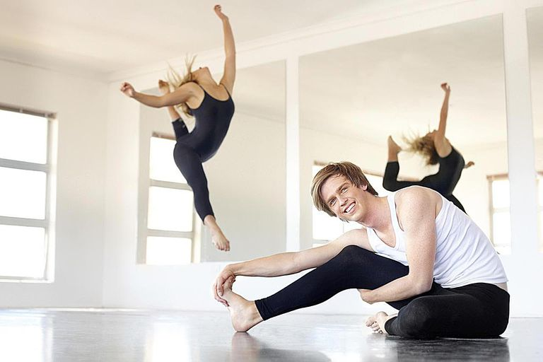 Young dancers practicing in a studio