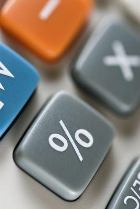 Close-up of a calculator keypad