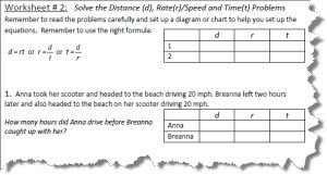 Distance rate and time worksheets with answers distance rate and time worksheet 2 ibookread PDF
