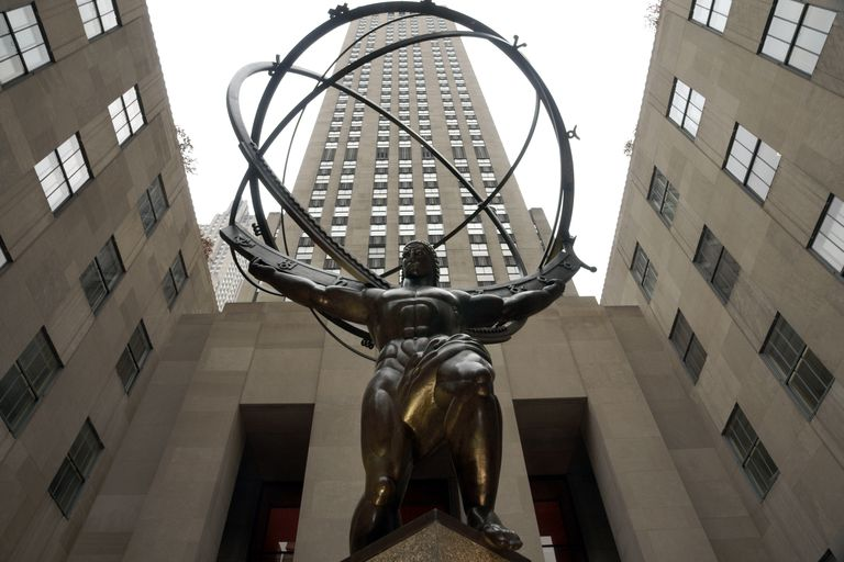 The Atlas Statue At Rockefeller Center