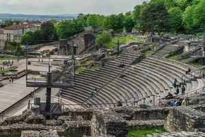 Ancient Theatre of Fourvière in modern day France