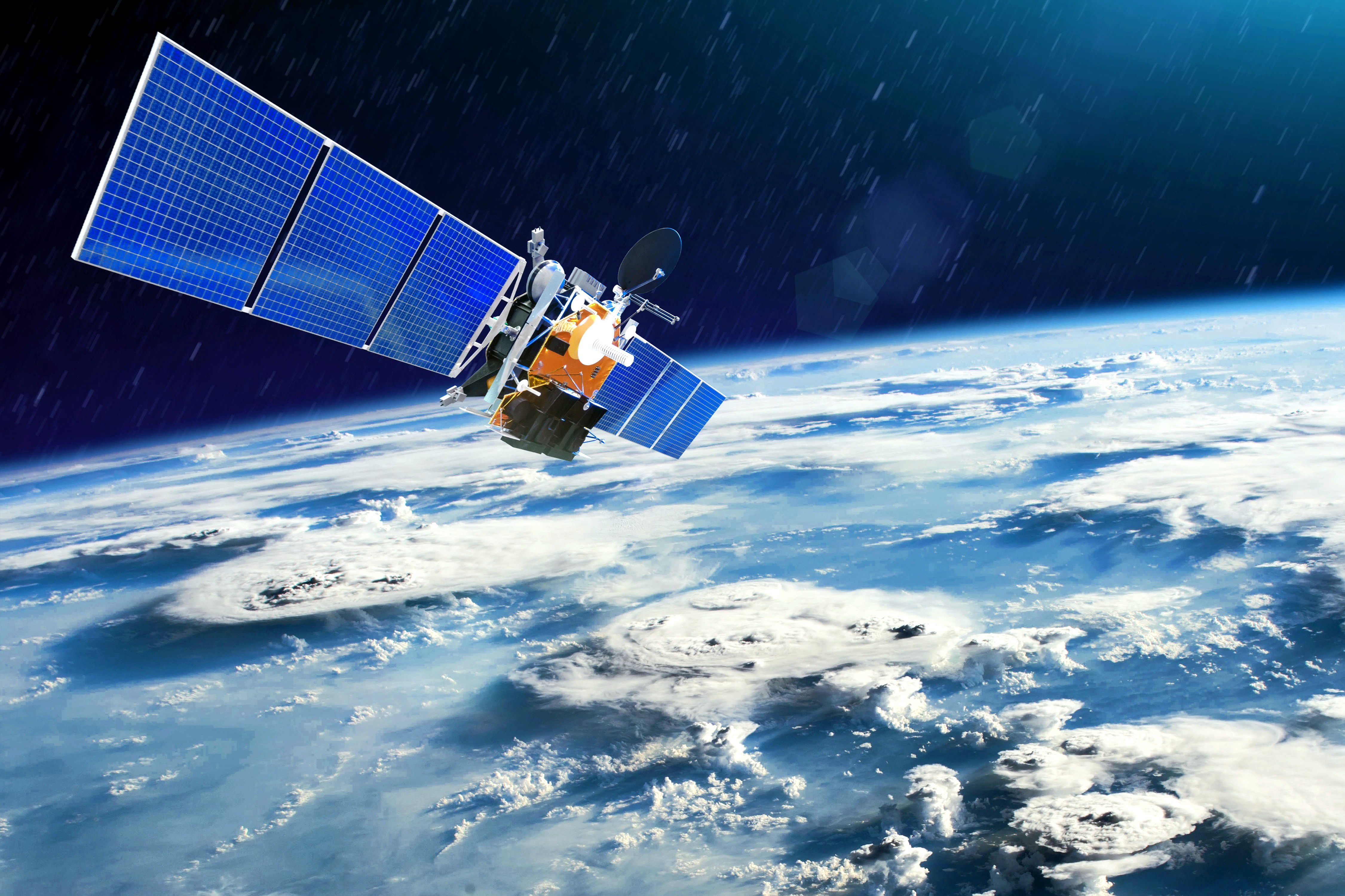 A weather satellite for observing powerful thunderstorms and tornadoes from space orbits the planet