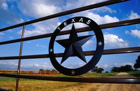 Ranch gate in Stonewall.