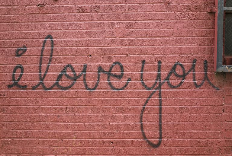I Love You spray painted on wall