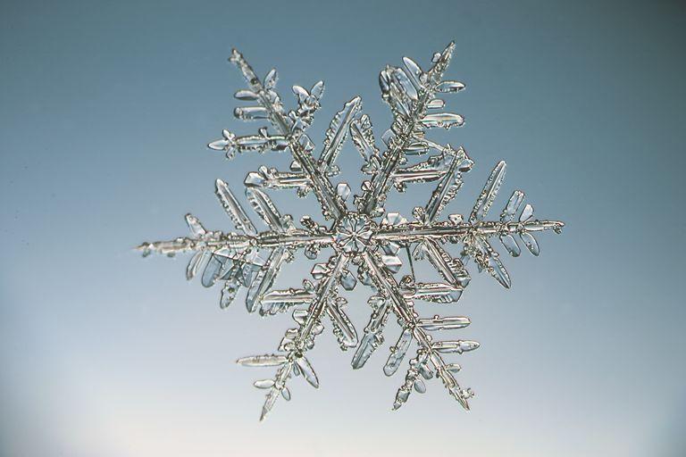 A snowflake crystal