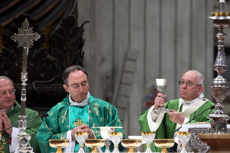 Pope Francis Attends a Mass for the Closing of Synod on Young People
