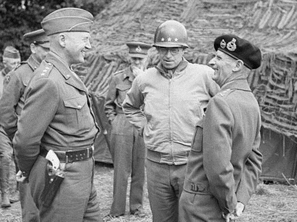 Lt. Gen. Omar Bradley (center) during World War II