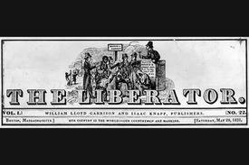 1831 header of Garrison's newspaper The Liberator