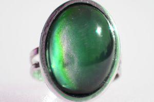 mood ring stone up close