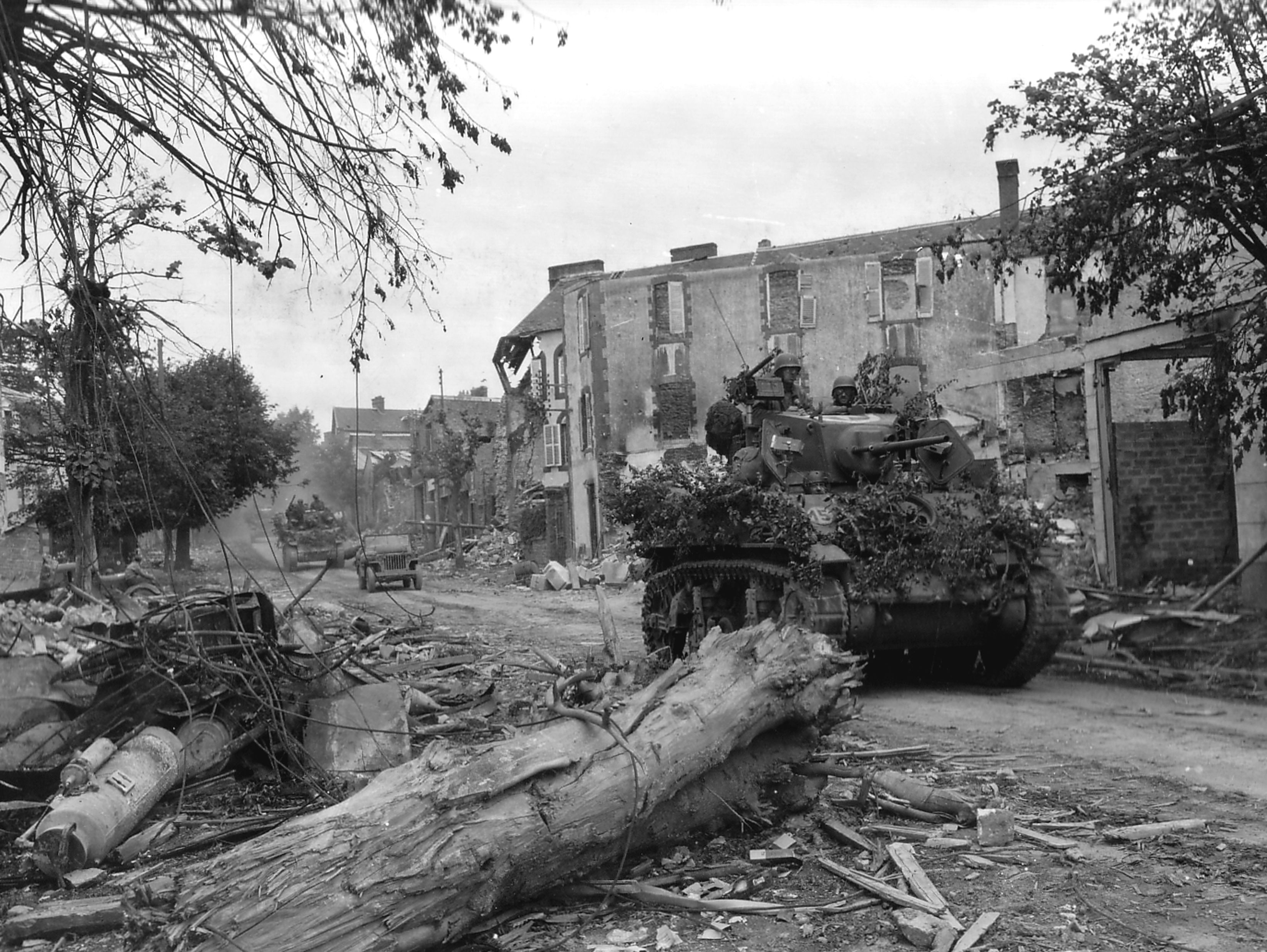 American troops in Coutances, 1944
