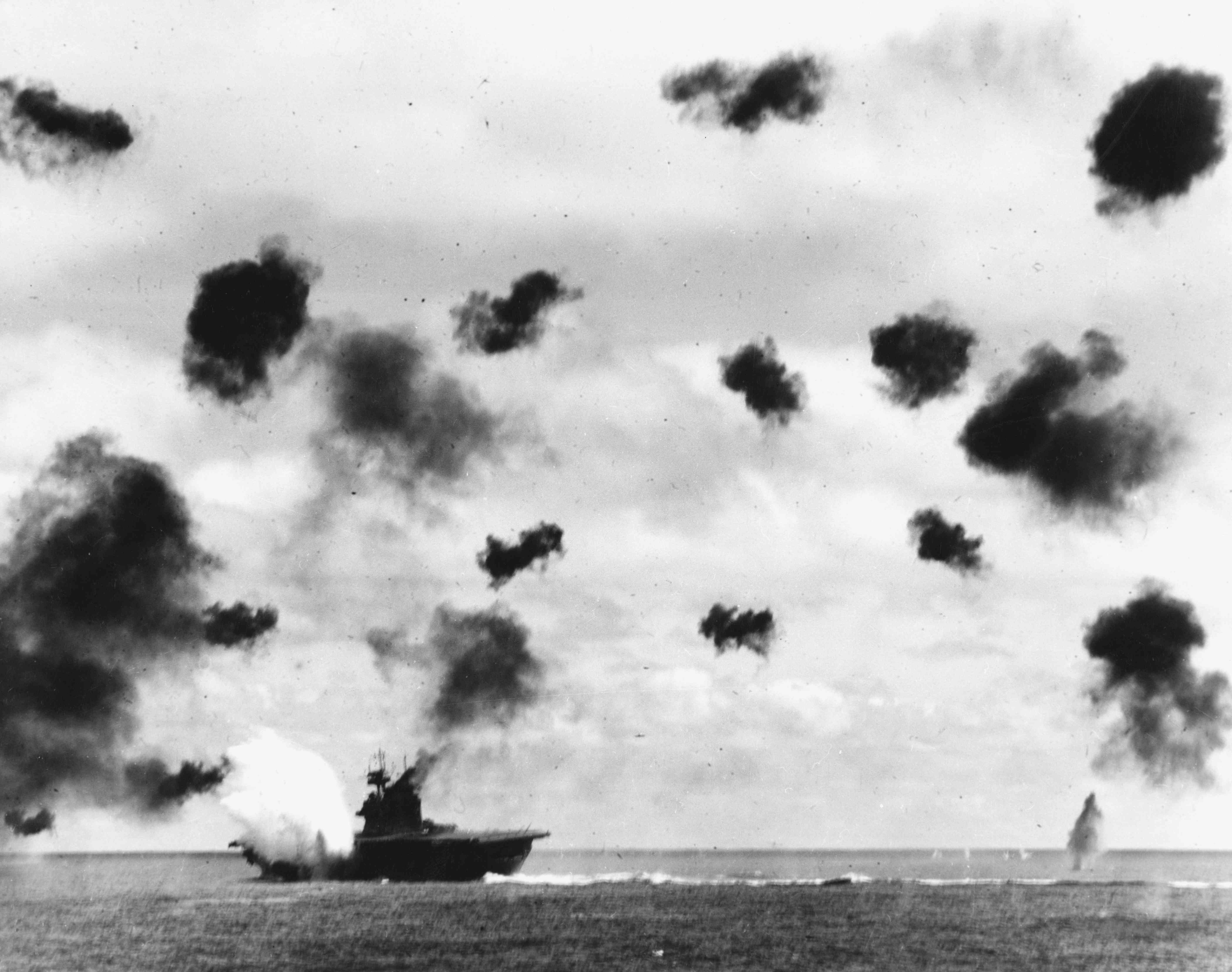 USS Yorktown (CV-5) at Midway