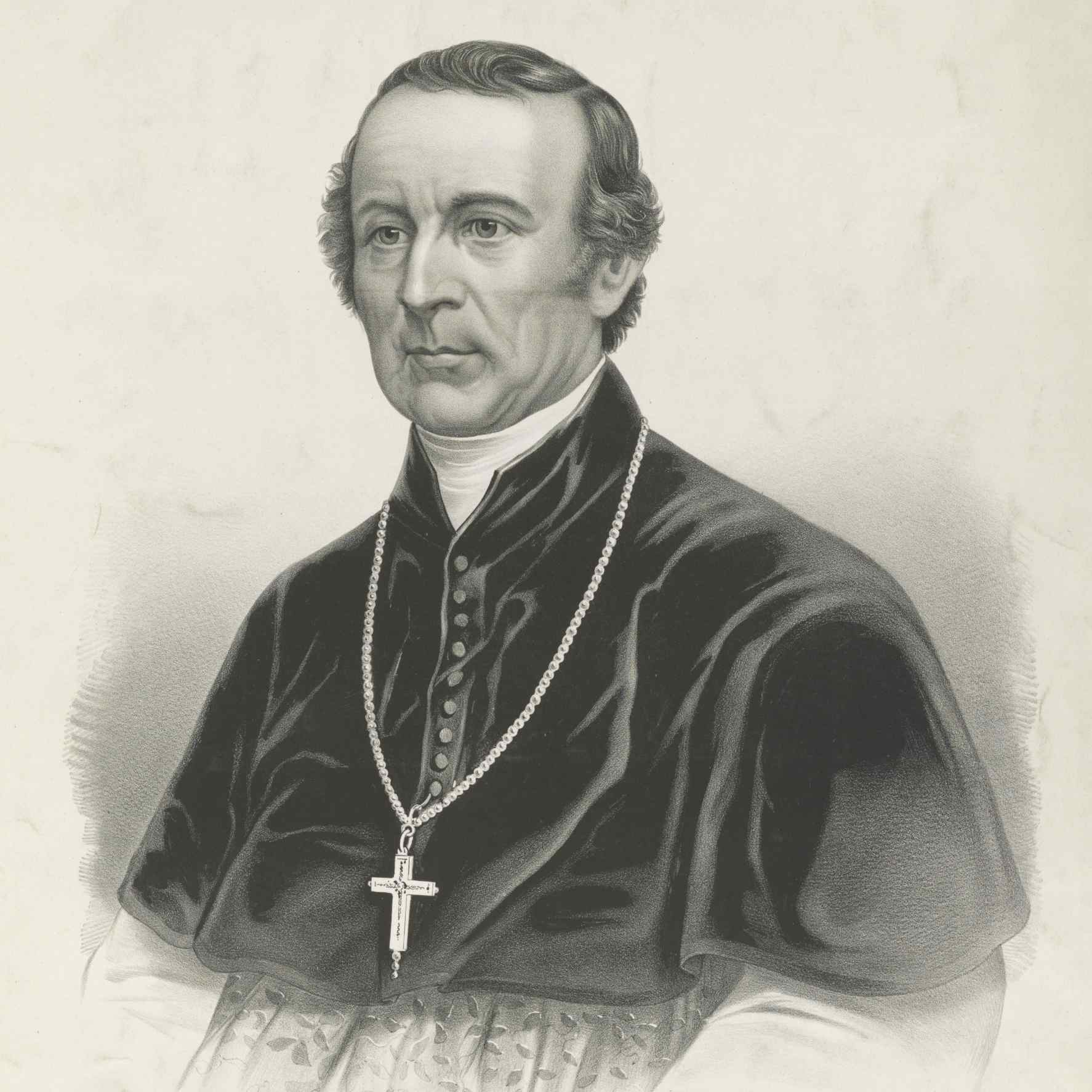 Lithographic portrait of Archbishop John Hughes
