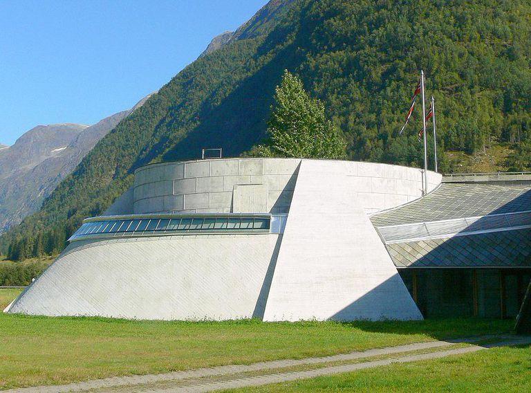 Circular Exhibit Space at the Norwegian Glacier Museum by Architect Sverre Fehn