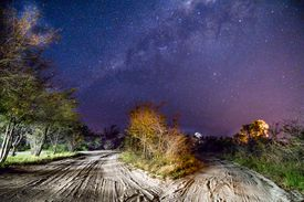 Night sky and the Milky Way in Botswana the Southern Hemisphere